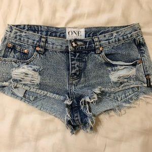 Size 27 OneTeaspoon Acid wash Shorts